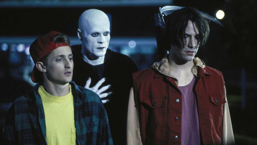 A still from Bill and Ted's Bogus Journey (1991)